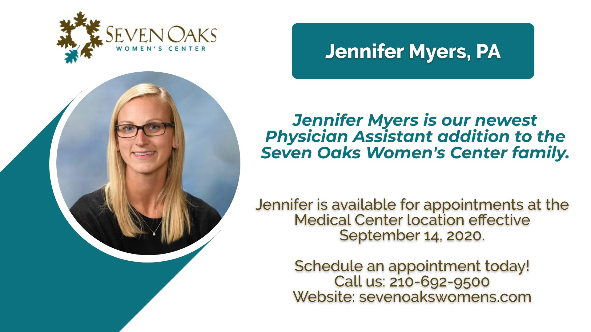 Jennifer Myers Announcement 9 8 20